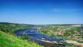 Река Днестра, зона Tsypova, Молдавия стоковая фотография rf
