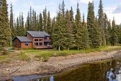 река дома пущи Стоковое фото RF