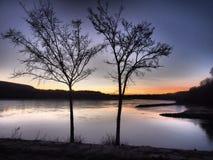 Река Дунай и Morava, Братислава Devin- Словакия стоковая фотография rf