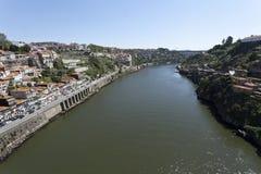 Река Дуэро в верхней части потока Стоковые Изображения
