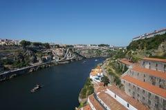 Река Дуэро в Порту, Португалии Стоковые Фото