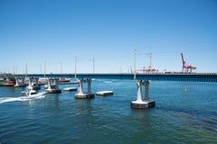 Река лебедя и порт Fremantle Стоковые Изображения