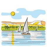 река Египета Нила Стоковое Изображение