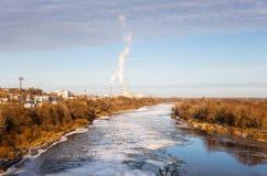 Река заволакивания льда Стоковая Фотография RF