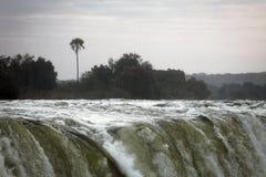 Река Замбези перед падением воды от Victoria Falls Стоковая Фотография