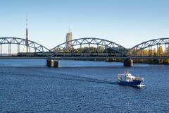 Река западной Двины в Риге Стоковое Изображение RF