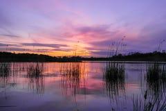 Река захода солнца в Лидсе стоковые фото