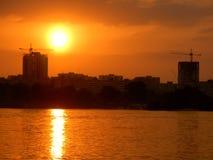 река здания Стоковое Изображение