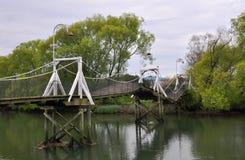 река землетрясения повреждения christchurch кулачка моста Стоковая Фотография RF