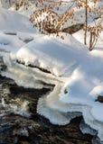 Река зимы с обмылками падения стоковые фото