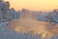 Река зимы Стоковые Изображения