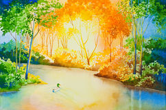 река золота Стоковая Фотография RF