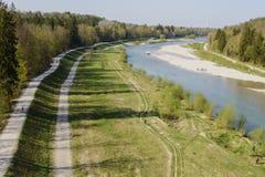 Река Изара Стоковая Фотография