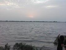 Река Инд на заграждении Kotri стоковые фото