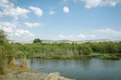 Река Иордан, Израиль стоковая фотография rf
