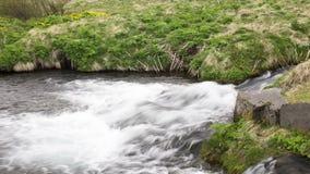 Река Исландия сток-видео