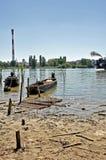 Река и индустриальная зона Стоковая Фотография