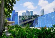 Река и небоскребы Сингапура Стоковые Изображения RF