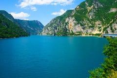 Река и озеро Piva Стоковые Фотографии RF