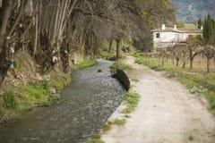 Река и дорога стоковая фотография rf