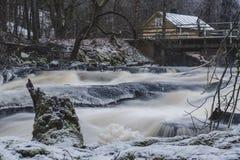 Река и речные пороги ` s Sjundby стоковое изображение rf
