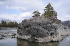 Река и утес Стоковые Фотографии RF