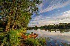 Река и шлюпки Narew Стоковая Фотография RF