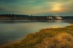Река Йеллоустон Стоковая Фотография RF