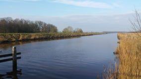 Река, канал, ландшафт, Стоковые Изображения RF