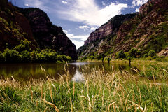 Река каньона Glenwood Стоковые Изображения