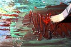 река картины маслом ландшафта пущи Стоковые Фото