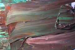 река картины маслом ландшафта пущи Стоковая Фотография
