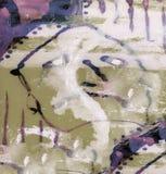 река картины маслом ландшафта пущи Стоковое фото RF