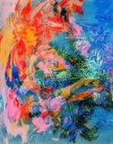 река картины маслом ландшафта пущи стоковая фотография rf