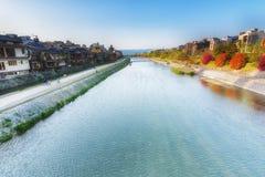 Река Киото Япония Kamo стоковые фото