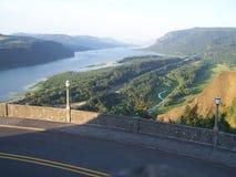 Река Колумбия на доме перспективы смотря к Вашингтону стоковые фотографии rf