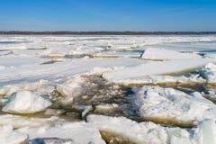 Река краха весной Стоковое фото RF