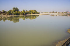Река Кубани в Краснодаре Стоковые Фото