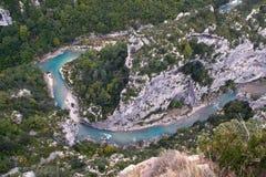 река к взгляду verdon стоковое изображение