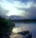 река ландшафта Стоковое Изображение