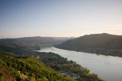 река ландшафта danube Стоковые Изображения