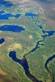 Река леса, взгляд сверху Стоковые Изображения RF