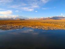 Река Лхасы в Тибете Стоковое Изображение RF