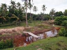 река малый v quoc phu острова моста Стоковое фото RF