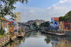 Река Малакки, Малайзия Стоковое Фото