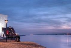 Река Мерси, Ливерпуль Стоковые Фотографии RF