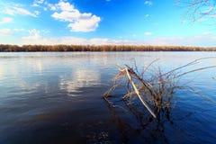 Река Миссисипи Андалусия Слау Стоковые Изображения RF