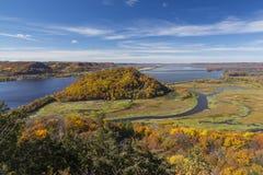 Река Миссисипи в осени Стоковая Фотография RF