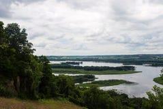 Река Миссисипи, Иллинойс, США Стоковая Фотография