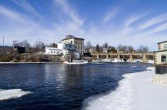 Река Миссисипи, Almonte, Онтарио, Канада Стоковое Изображение RF